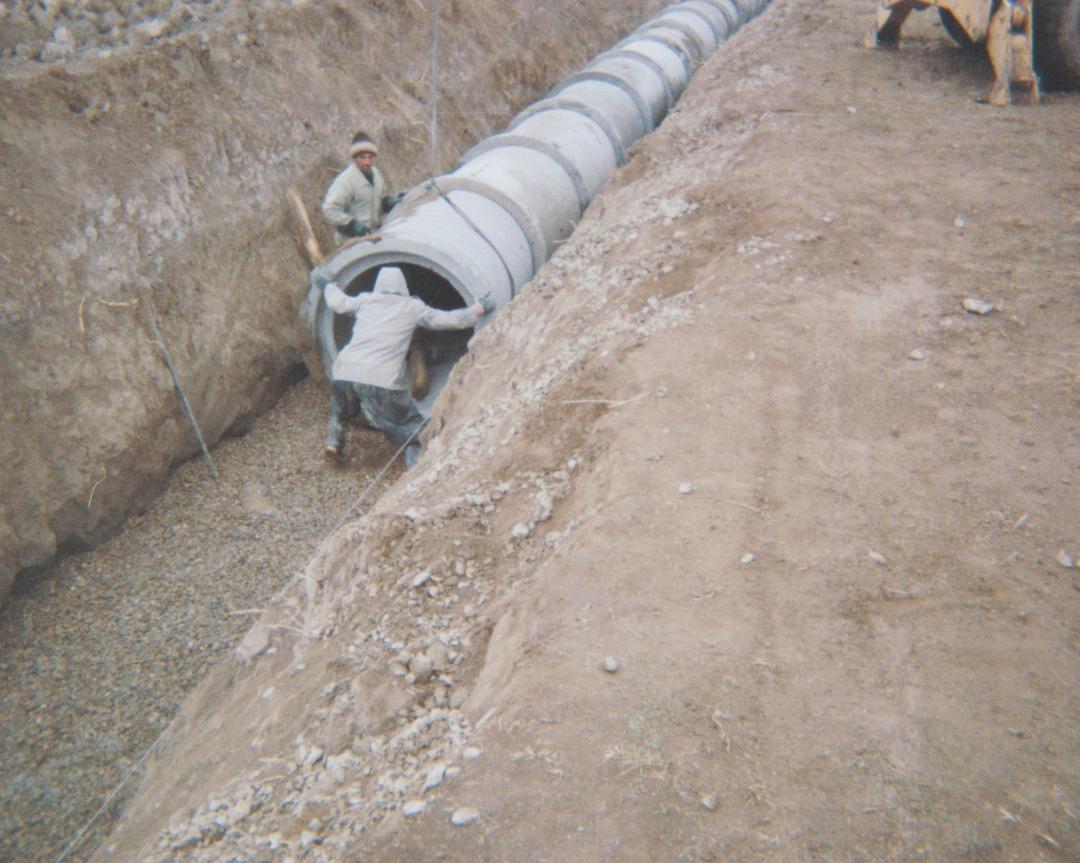 Establishment of Sarab waste water transmission line